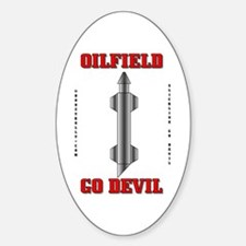 Oilfield Go Devil Oval Decal
