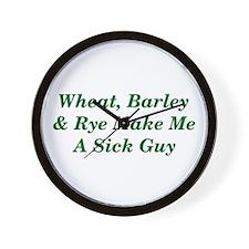 Wheat, Barley & Rye Celiac Wall Clock