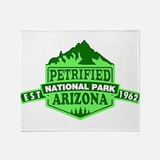 Petrified Forest - Arizona Throw Blanket