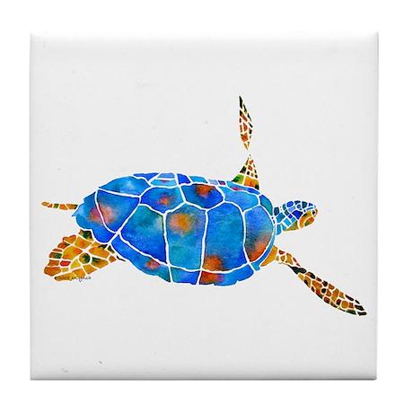 Sea Turtle 2 Tile Coaster