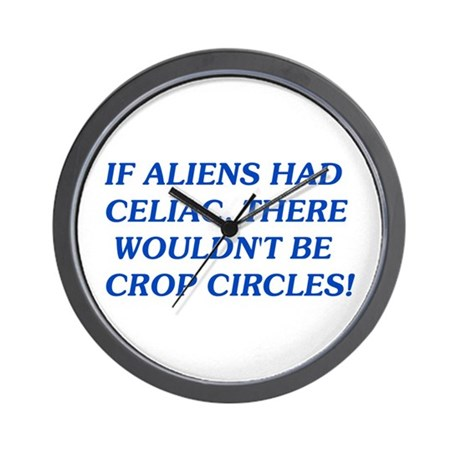 If Aliens Had Celiac Wall Clock