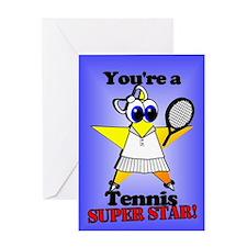 Tennis Birthday Greeting Card