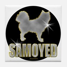 Bling Samoyed Tile Coaster