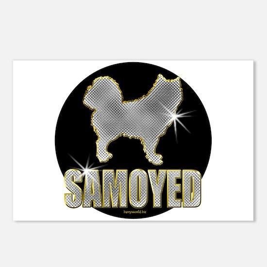 Bling Samoyed Postcards (Package of 8)