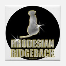 Bling Ridgeback Tile Coaster