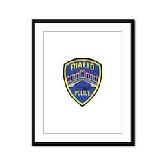 Rialto Police Framed Panel Print