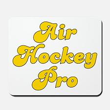 Retro Air Hockey .. (Gold) Mousepad