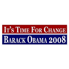 It's Time for Change Obama bumper sticker