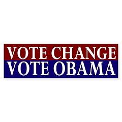 Vote Change Vote Obama car sticker