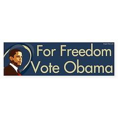 For Freedom Vote Obama bumper sticker