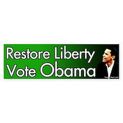 Restore Liberty Vote Obama bumper sticker