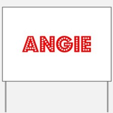 Retro Angie (Red) Yard Sign