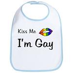 Kiss Me I'm Gay  Bib