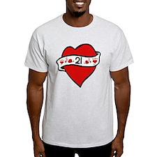 21st Heart Tattoo T-Shirt