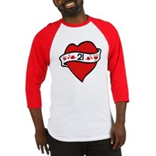 21st Heart Tattoo Baseball Jersey