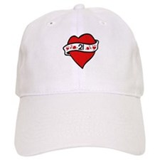 21st Heart Tattoo Baseball Cap