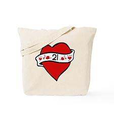 21st Heart Tattoo Tote Bag