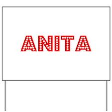 Retro Anita (Red) Yard Sign