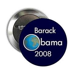 Earth Barack Obama 2008 Button