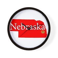 Cute Nebraska cornhuskers Wall Clock