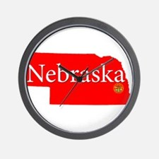 Cool Cornhuskers Wall Clock