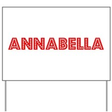 Retro Annabella (Red) Yard Sign