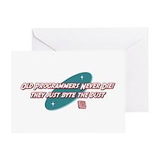 Old Programmers Never Die Greeting Card