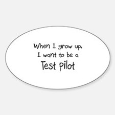 When I grow up I want to be a Test Pilot Decal