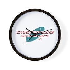 Old Postal Workers Never Die Wall Clock