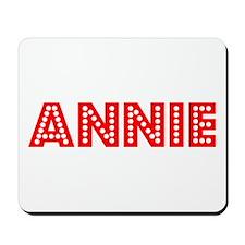 Retro Annie (Red) Mousepad