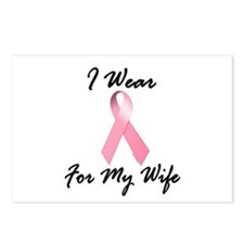 I Wear Pink For My Wife 1.2 Postcards (Package of