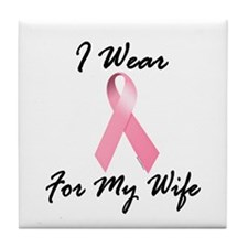 I Wear Pink For My Wife 1.2 Tile Coaster