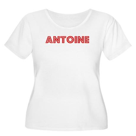 Retro Antoine (Red) Women's Plus Size Scoop Neck T