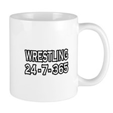 """Wrestling 24-7-365"" Mug"