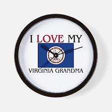 I Love My Virginia Grandma Wall Clock