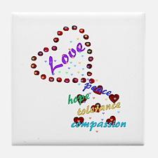 Seeds of Love Tile Coaster