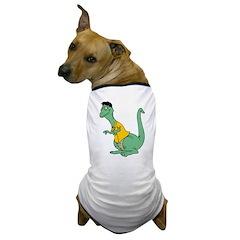 Goofy Dinosaur Dog T-Shirt