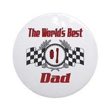 Number 1 Dad Ornament (Round)