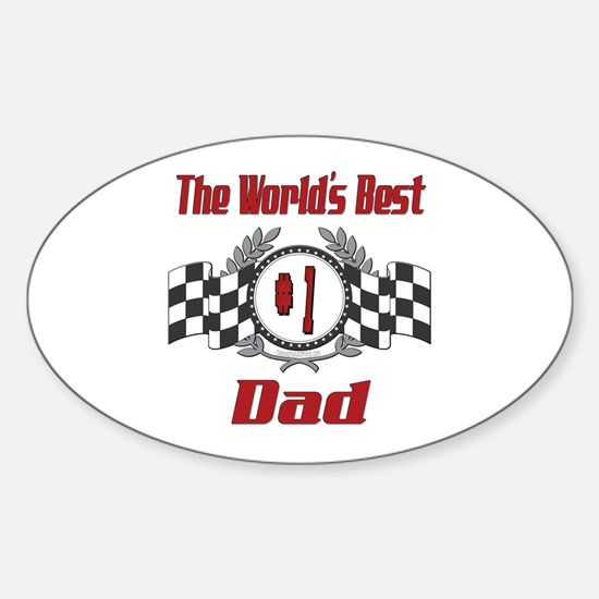 Number 1 Dad Oval Decal
