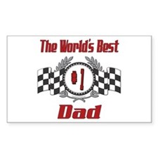 Number 1 Dad Rectangle Decal