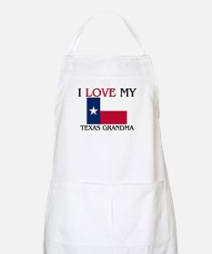 I Love My Texas Grandma BBQ Apron