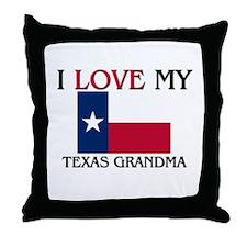 I Love My Texas Grandma Throw Pillow