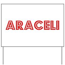 Retro Araceli (Red) Yard Sign