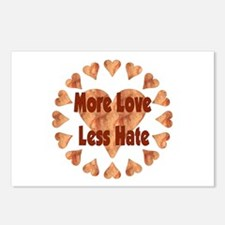 More Love Less Hate Postcards (Package of 8)