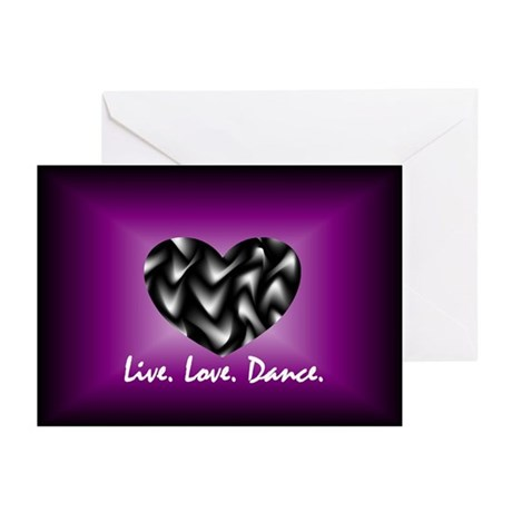 Live, Love, Dance Greeting Cards (Pk of 10)