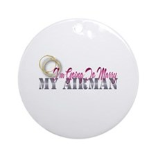 Air Force Fiancee Ornament (Round)