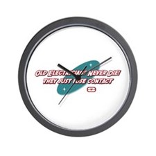 Old Electricians Never Die Wall Clock