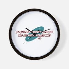 Old Electrical Engineers Never Die Wall Clock