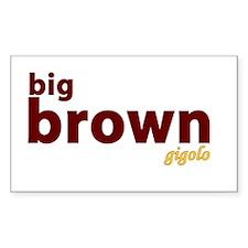 Big Brown Gigolo Rectangle Decal