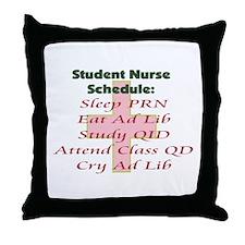 Cute Nursing student Throw Pillow